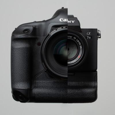 Sony Alpha 7III im Vergleich zu einer Canon 1Ds Mark II