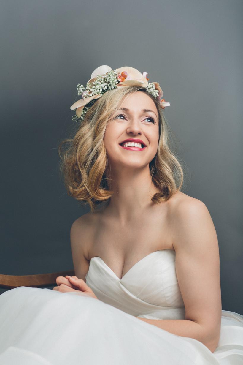 Hochzeitskleid Fotoshooting