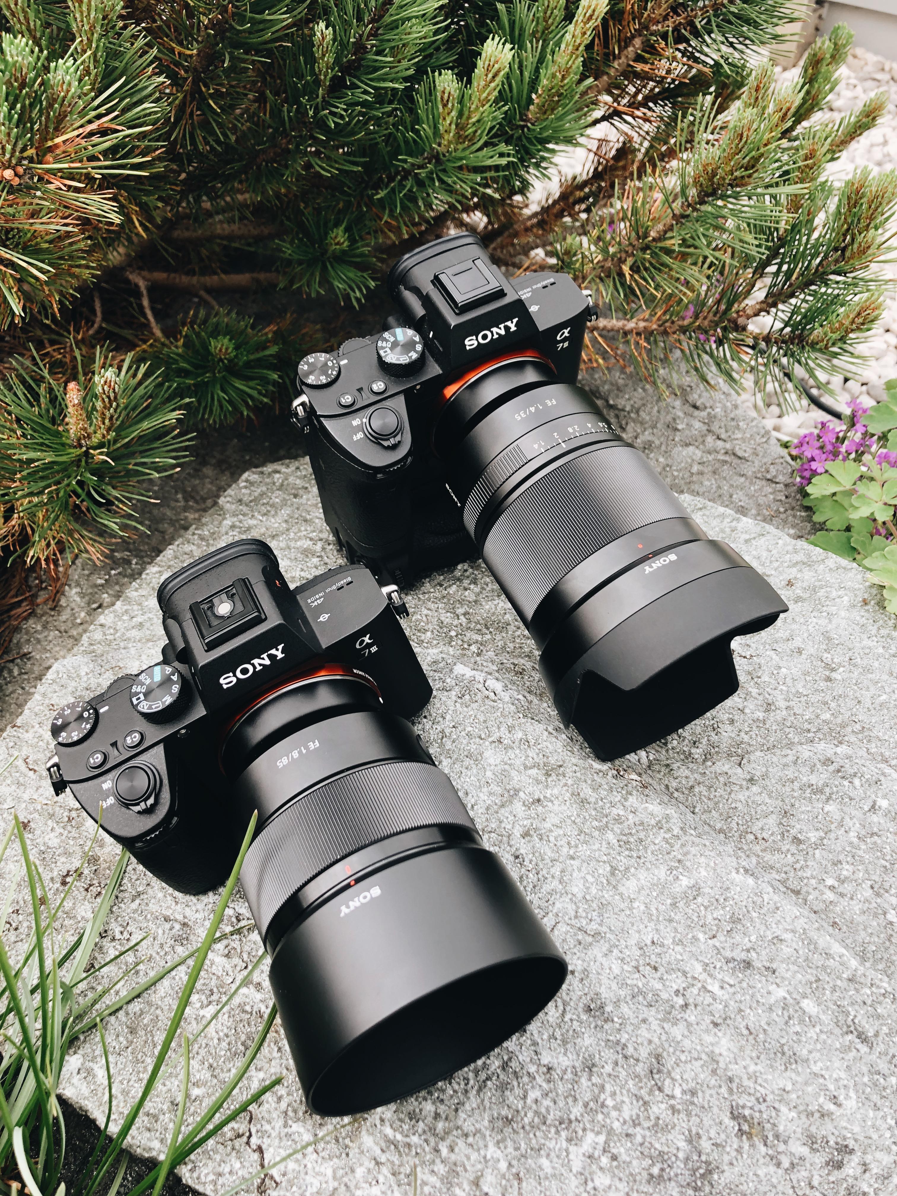 Zwei Sony Alpha 7 iii als Duo-Kit für einen Hochzeitsfotografen